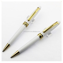 high quality cheap price white metal gift pen metal ball pen with logo printed