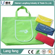 Waterproof Foldable Shopping bag Eco-friendly reusable folding handle Bag
