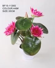 Realista pequeño flor de loto de cerámica