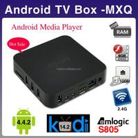 2015 cheapest MXQ Amlogic S805 Quad Core TV Box 1.5GHz KODI Android 4.4 Android TV Box MXQ