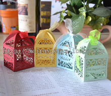 laser cut filigree favor boxes from mery crafts ! wedding gift box , wedding mini cake boxes