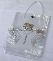 High quality clear pvc ziplock bag with handle
