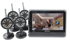 7 inch TFT Digital 2.4G wireless Cameras Audio Baby Video Monitor 4CH Quad DVR Security System With 4 IR night light Cameras