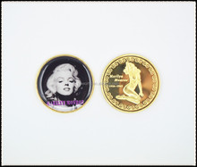 Marilyn Monroe gold clad collectors coin custom american usa gold coin+sex lady coin