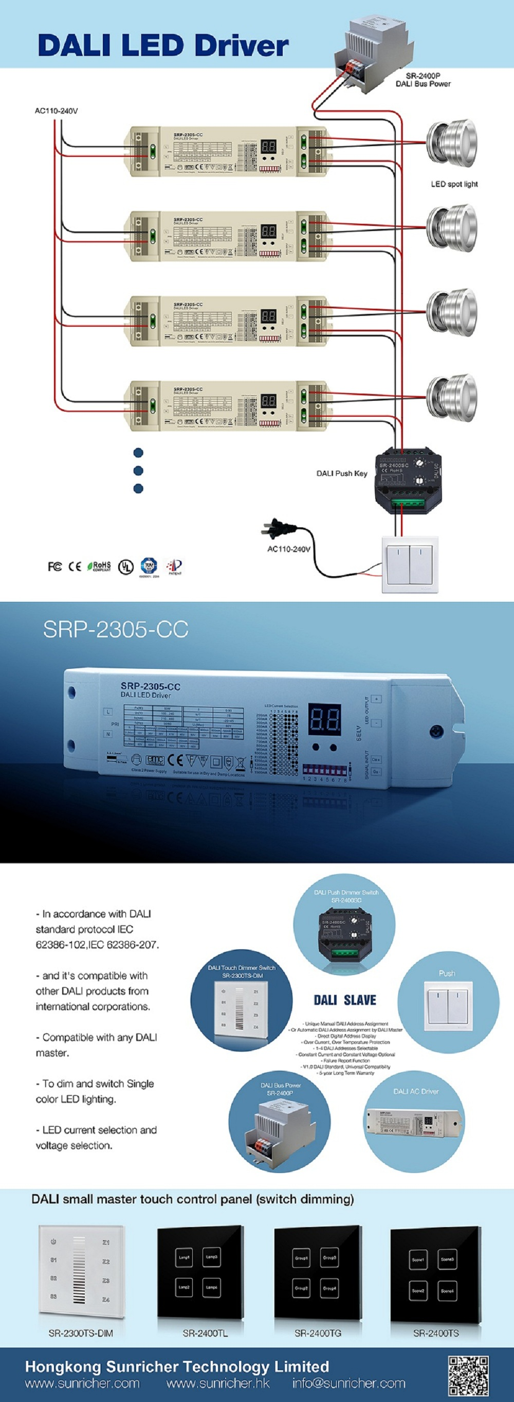 Sunricher Current Selectable Dali Driver Sr-2305-cc - Buy Current ...