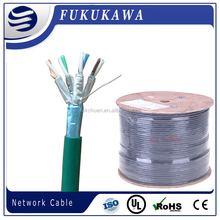 high quality available twist pairs shielded CAT6A UTP or F/FTP 4Pairs 23awg solid lan cable