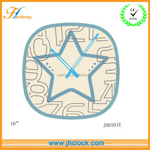 Pentagram wall clock with custom clock hands