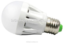 India price led plastic bulb light shell E27 base ADC12 Aluminum+ Milky PC cover