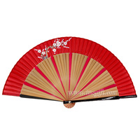 Stock products High quality bamboo plum blossom folding fans