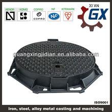 EN124 watertight cast ductile iron manhole cover