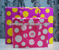 custom tinied color shopping paper bag