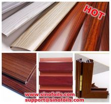 Wood grain film for aluminium profiles TOP SELLING PRODUCT 0.28USD/SQUARE METER