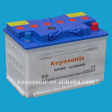 Excellent quality DIN 45Ah dry charge car battery for europe standard, Auto Battery Dry Charged, self start battery