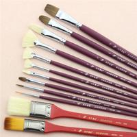 12pcs multiple shape nylon hair art acrylic paint brushes in quality box