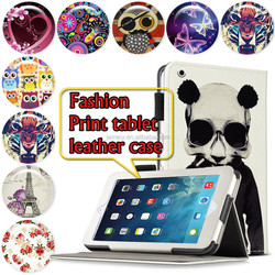 New Arrival Unique Design Leather Folio Flora Printed case Stand Case Cover For Ipad air