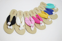 Women colorful flat chiffon flip flop slippers,diamone beach nude women slipper