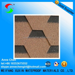 colored best asphalt roofing shingle tiles in China