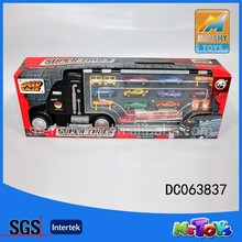 2015 hot sell die cast container truck,model metal cars toys with 14pcs part