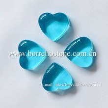 heart shaped glass gems
