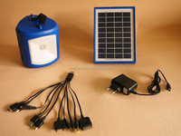 Fashionable solar led Solar Lantern With Cellphone Charger