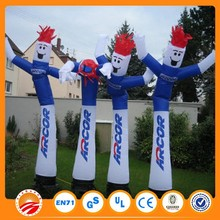 Custome Colorful Inflatable Advertising Sky Dancer Cartoon Man