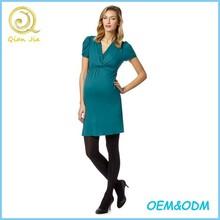 Pregnant Women Wear V Neck Nursing Maternity Dress