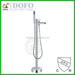 Hot sales Chrome floor mounted free standing Bath Tub Faucet with Shower