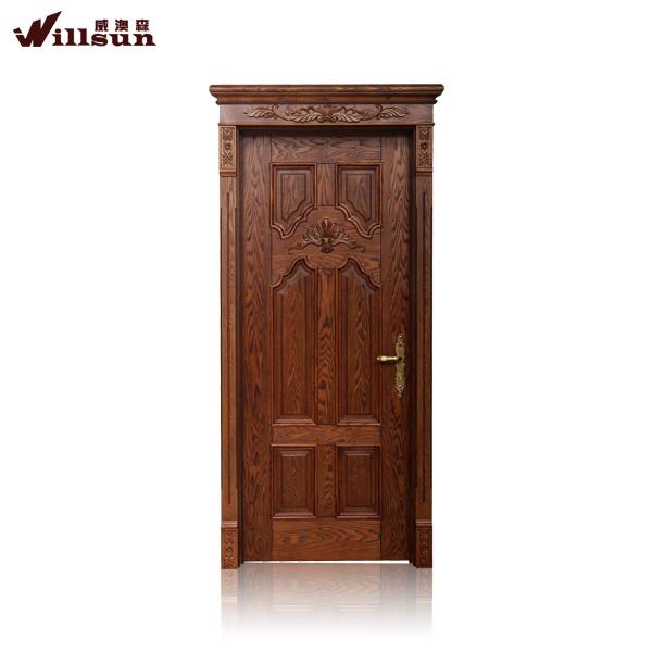 Frente a la puerta de madera de caoba de la puerta de for Modelos de puertas de madera para frente