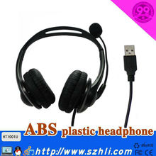 Hot Selling USB Headphone 101U with RJ11 plug and USB DC plug for Option, Quality Handband Headset