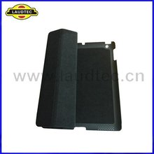 Black stand leather case for Apple ipad 3 leather bag