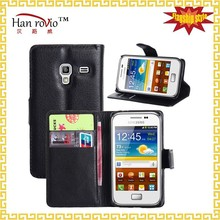 For Samsung Galaxy Ace Plus S7500 PU leather cell phone case 9 colors wallet phone case