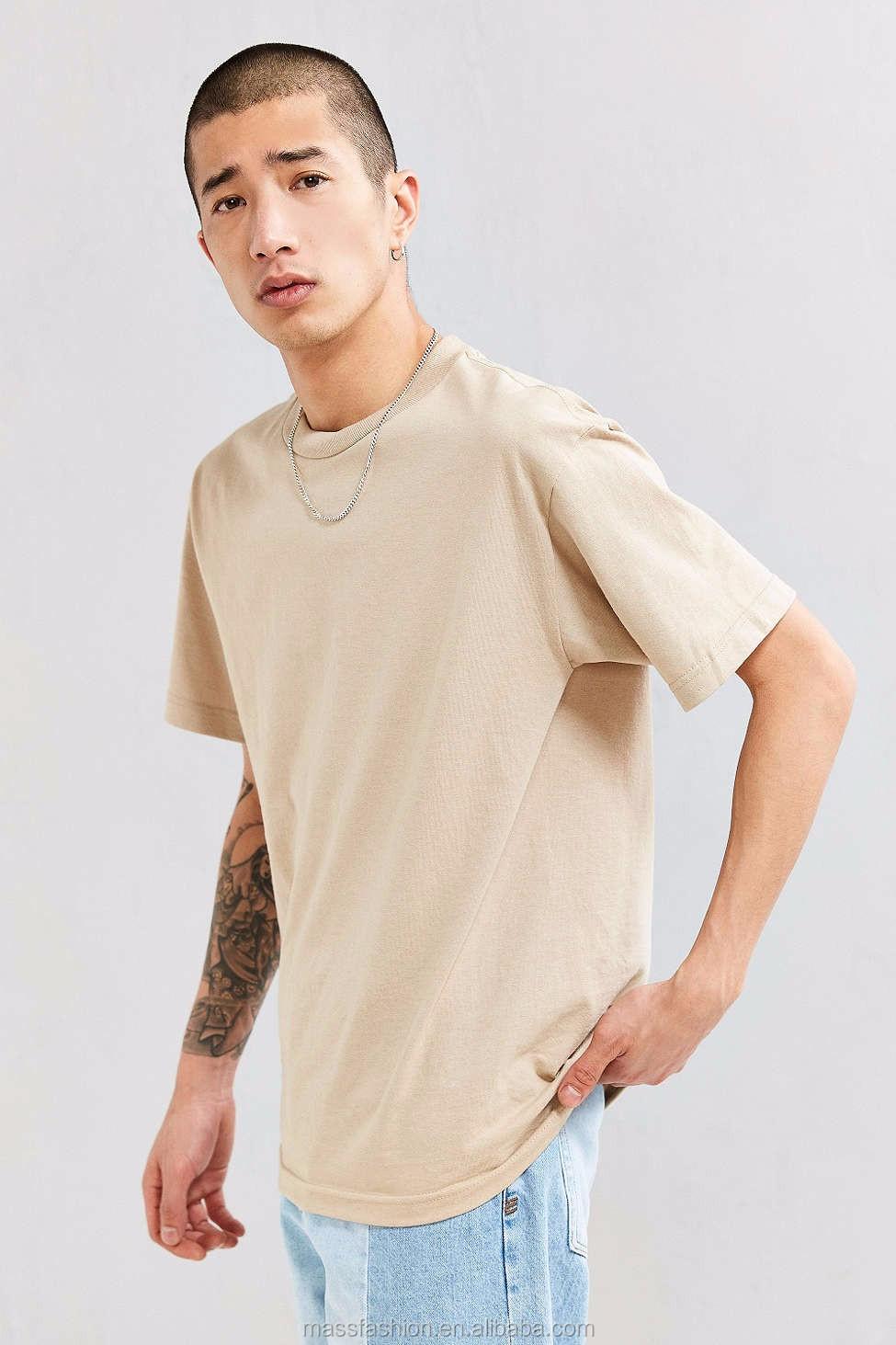 Wholesale Mens Blank Plain Tee Shirt Longline Extended Man T Tendencies Tshirt Super Rock Putih S 15 16