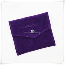 Logo printed microifber envelope bag with button closure,envelope clutch bag
