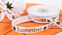 basketball printed satin ribbon