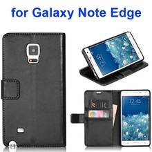 Nice design TPU and leather case for Samsung Galaxy Note Edge case