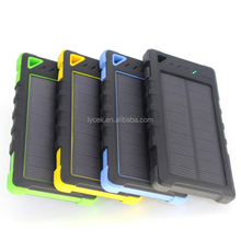 china top ten selling products Waterproof Solar Power Bank 8000mAh Solar Mobile Phone Charger Solar Charger