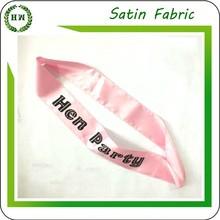 Hongway wholesale fashion customize satin beauty pageant sash