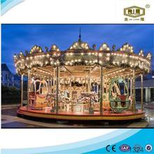 amusement park entertainment rides wooden toy carousel music box