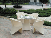 Outdoor garden modern braid rattan furniture coffee shop used tables and chairs for sale AWRF5024A