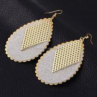 Top Design Crystal Jewelry Fashion 2015 Drop Earring Matte gold earrings for women