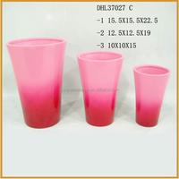 pink color flower pots terracotta plant pots ceramic flower pots wholesale