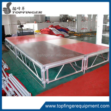 TFR stronger and cheaper Sheer Organic Plexiglass Adjustable Aluminum Stage With Adjustable Legs for event