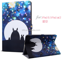 Hot selling for ipad air leather case, printing cover case skin
