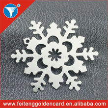 Hot Sale Exporting Embossed Snowflake Ornaments for Indoor&outdoor Hanging Christmas Ornament