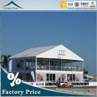 High Class Popular Easy To Install Marquees Double Deck Tent With Inner Decorations