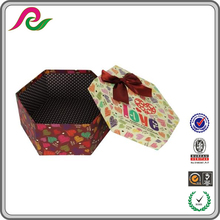 Recycled paper hexagon wedding dress packing box manufacture china