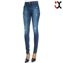 2015 high waist skinny sexy ripped pictures of jeans for women JXH124