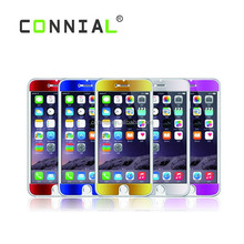 Mobile Phone Accessories Factory price cover guard mirror color tempered glass film for iphone 6
