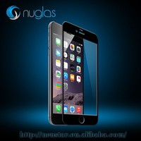 Excellent quality multi color full coverage tempered glass screen protector for iPhone6, MOQ 10pcs with fast delivery