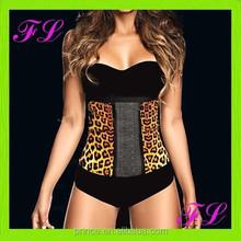 Woman's Leopard rubber waist training corsets